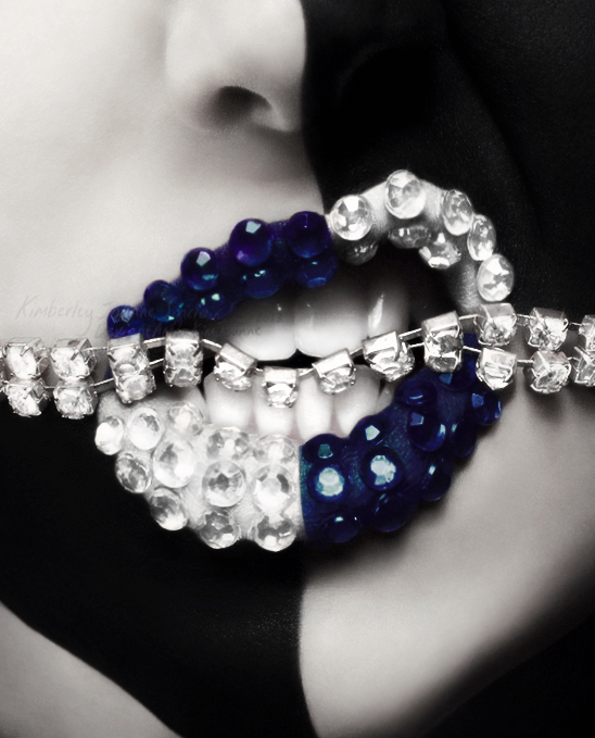 Jewel Encrusted Lips - IV by xKimJoanne