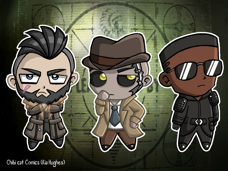 Fallout 4 Anime Characters : Fallout chibi by xcelestialangelx on deviantart