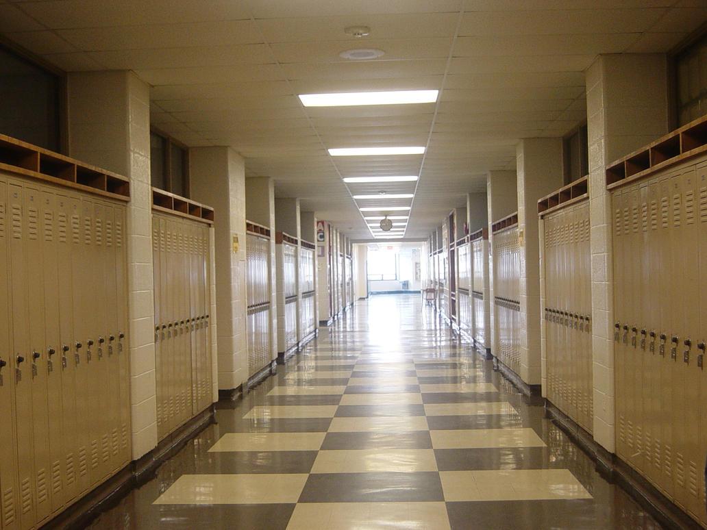 school hallways by fallen-angel-stock