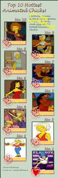Top 10 Hottest Simpsons Women by Otakurec37