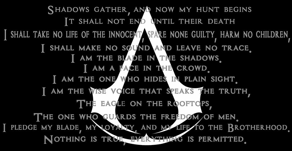 Assassin's Creed - Night's Watch Oath style by Otakurec37 ...