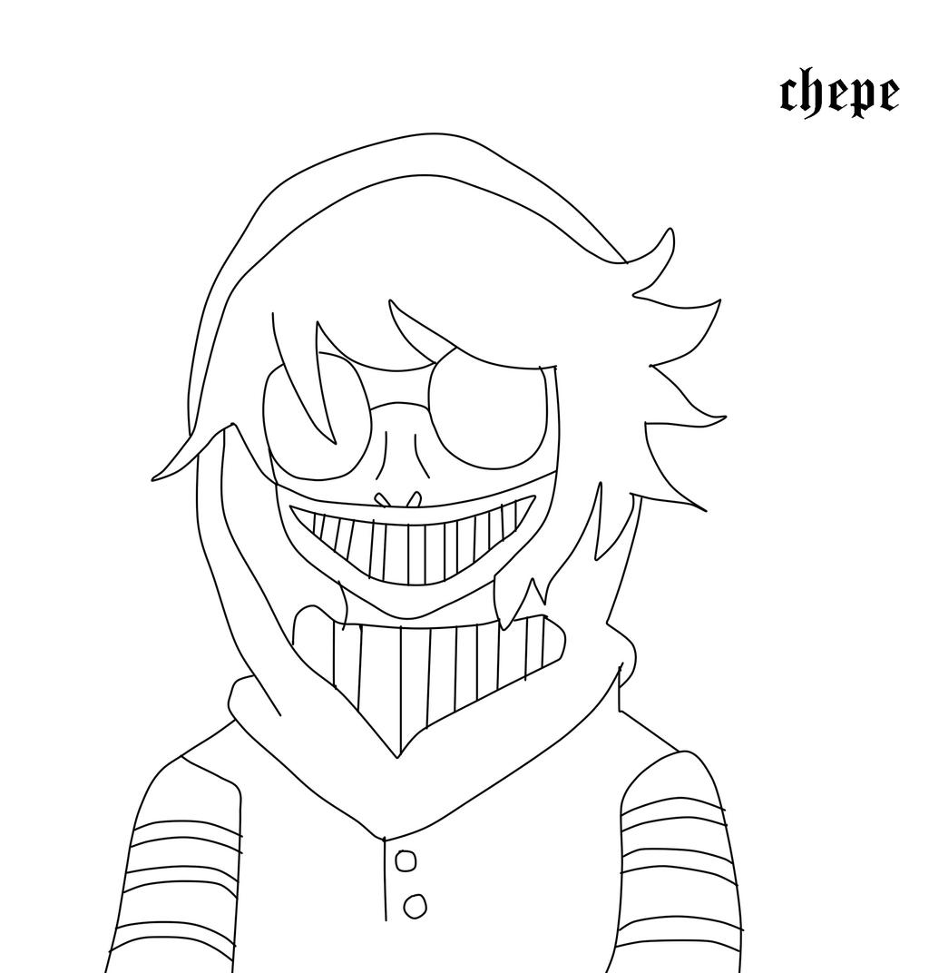 It's just a photo of Shocking Creepypasta Coloring Pages