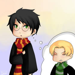 Harry Potter and Draco Malfoy on Quality-HP-Fanart - DeviantArt