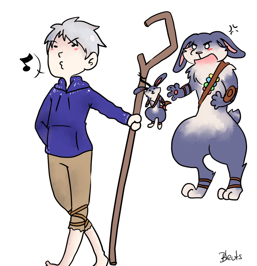 Jack Frost and Bunnymund 3 by saeru-bleuts