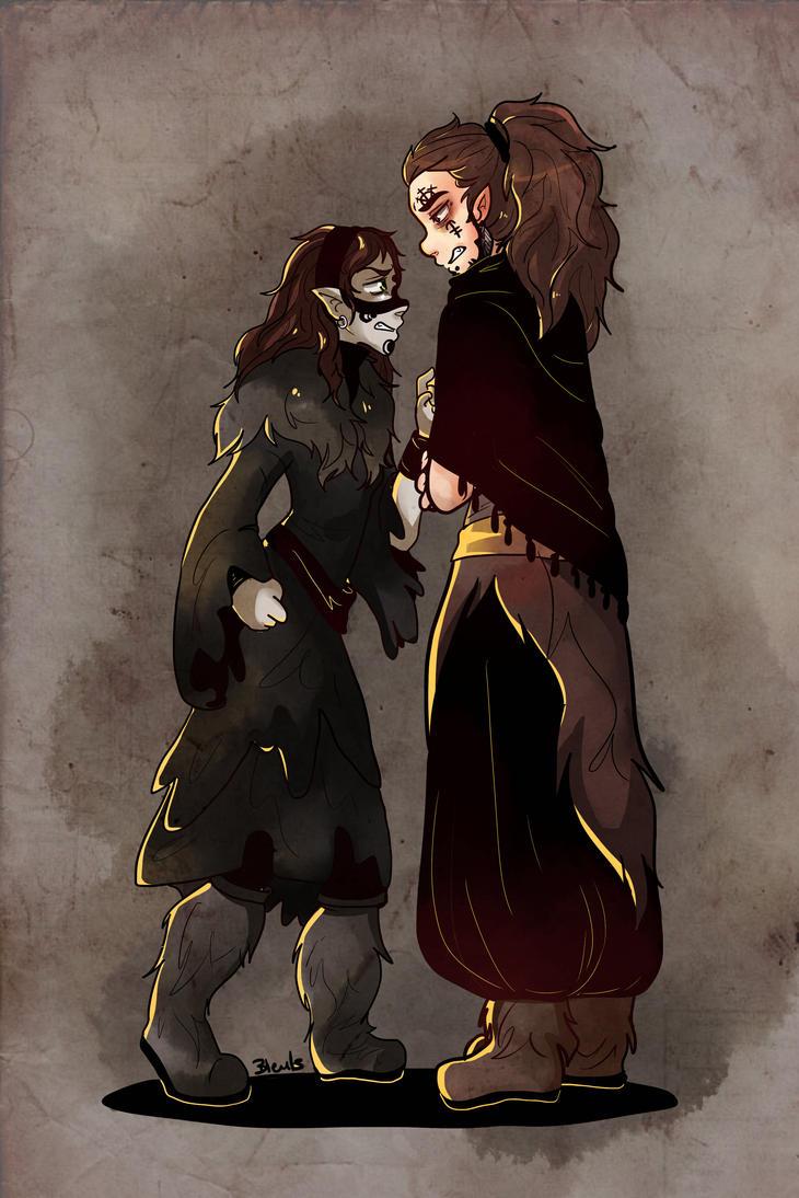 Katrina et Drakan by saeru-bleuts