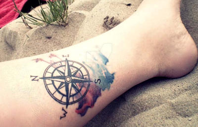 My Compass tattoo by apskull