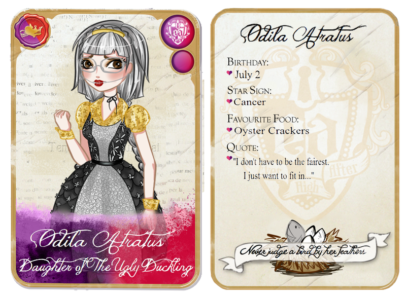 Ever After High: Odila Character Card by Fireflowermaiden ...