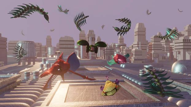 Bio Hazard Battle ( Sega Genesis ) 3D render