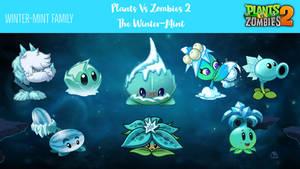 Plants Vs Zombies 2:Winter-Mint Family