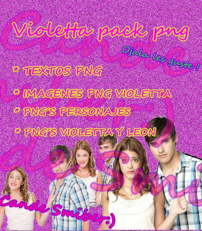 Pack png Violetta y Leon by Can-Meras088