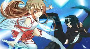 Asuna and Kirito by FallieAngel