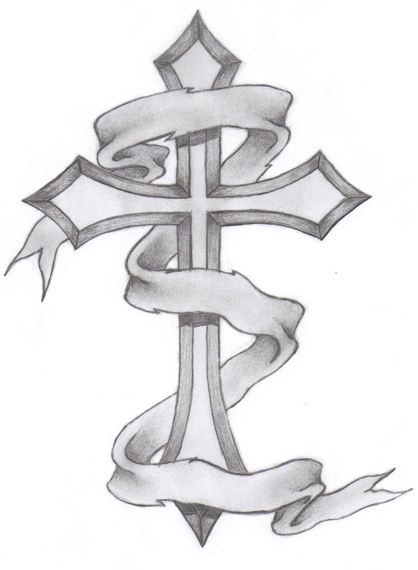 classic cross tattoo by glax34 on deviantart