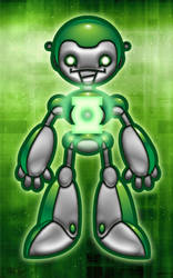 Green Lantern Bot by marvinbarreiros