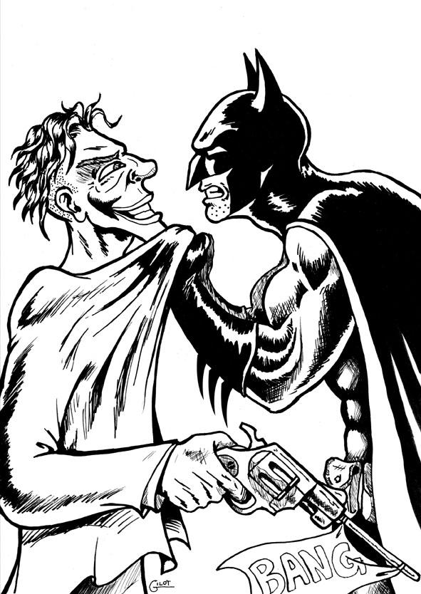 Coloriage Batman Vs Joker Meilleures Idees Coloriage Pour Les Enfants