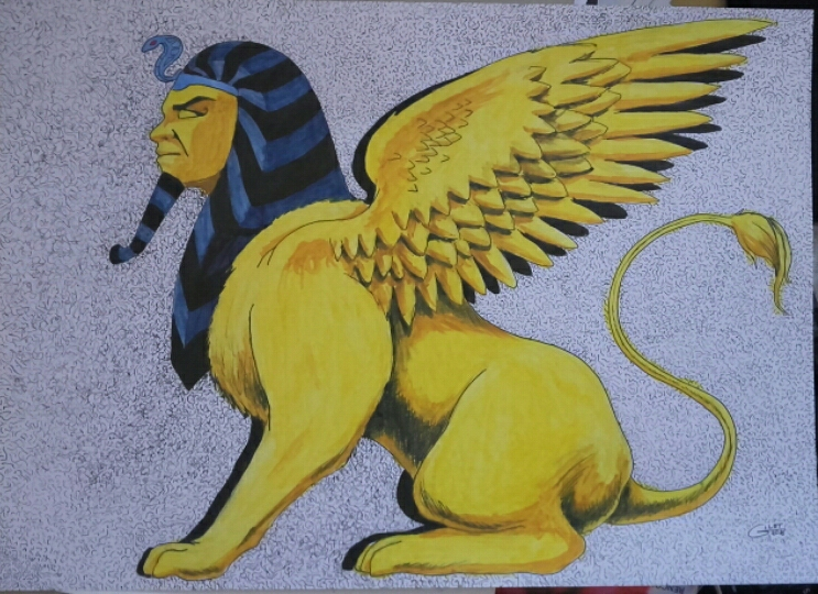Golden Sphinx by alain-gilot