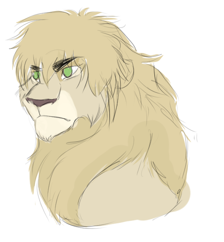 Iggy lion by Iva-Inkling