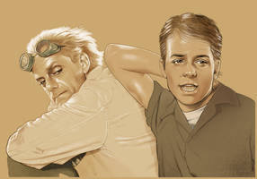 Doc and Marty by Lithrael