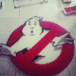 who you gonna call? - Ghostbusters!  perler by staubtaenzerin