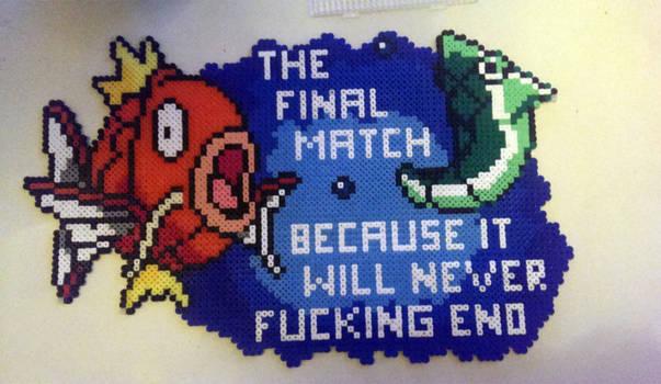 final match - magikarp vs metapod - perler
