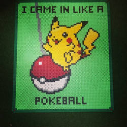 pikachu cyrus - i came in like a pokeball - perler