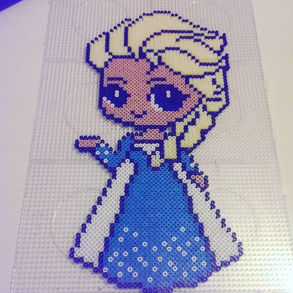 perler Elsa - frozen by staubtaenzerin on DeviantArt