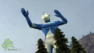 [GMOD] Ultraman Cosmos appears in the forest by DaVinci030