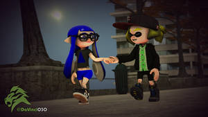 [SFM] Ben and Frost, holding hands like a couple by DaVinci030
