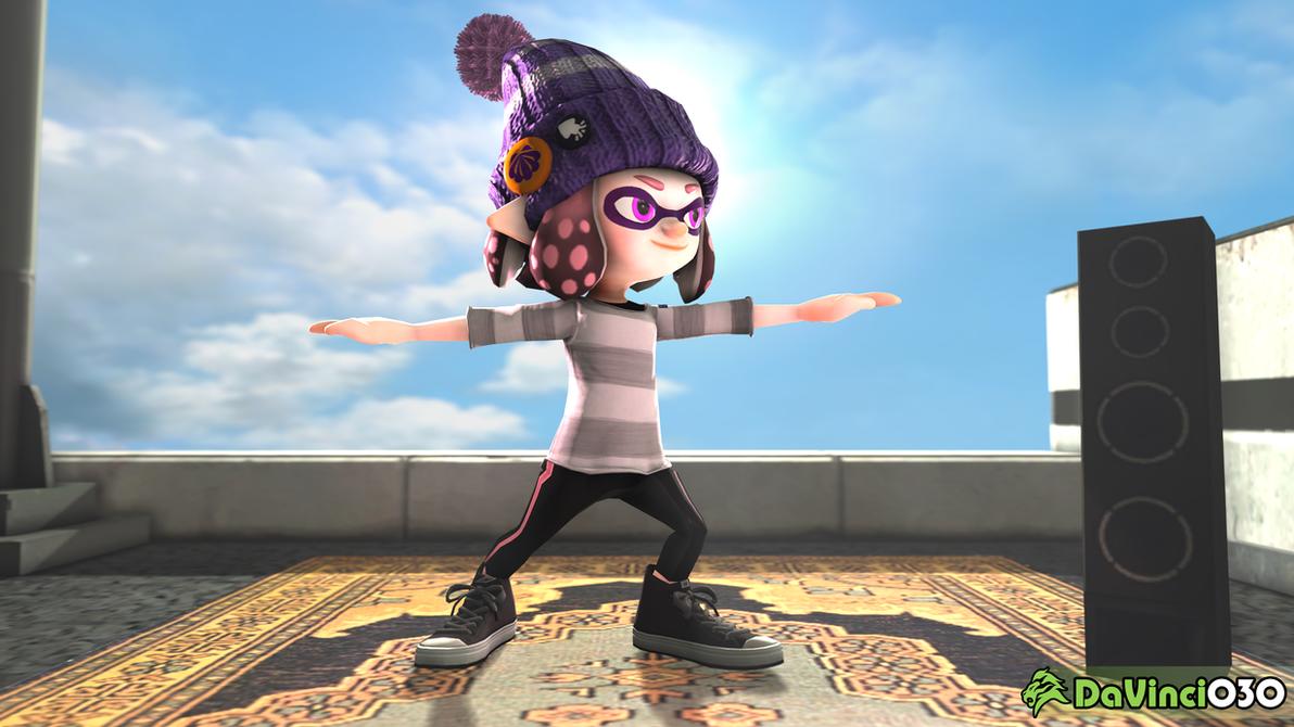 [SFM] Jazel in her Warrior II Yoga pose by DaVinci030