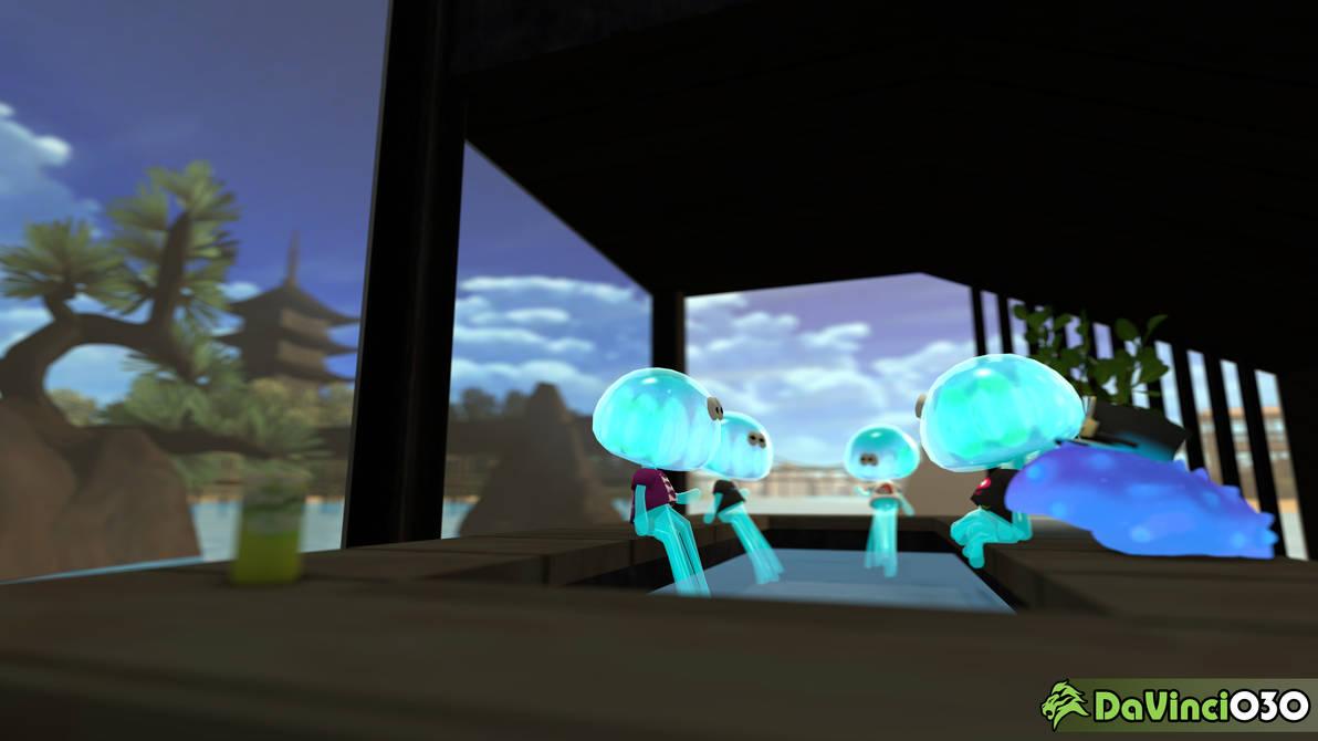 [SFM] Jellyfish Hangout with C.Q. Cumber by DaVinci030