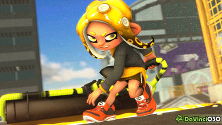 [SFM] Roller Golden Octo Girl by DaVinci030