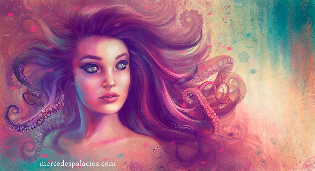 Pink Octopus by eviaan-art