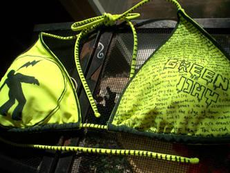 Green Day Bikini by RabidBallerina
