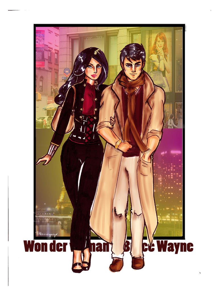 Bruce Wayne and Wonder woman by brilliant-beatrice
