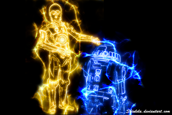R2D2 and C3PO by skinlela