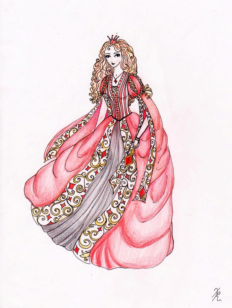 Queen of Diamonds by La-Chapeliere-Folle