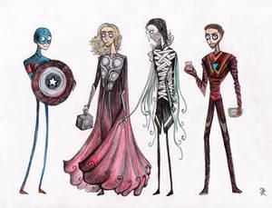 Tim Burtonned Avengers part 1
