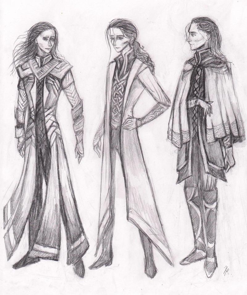 Loki In Thor 2? Doodles by La-Chapeliere-Folle