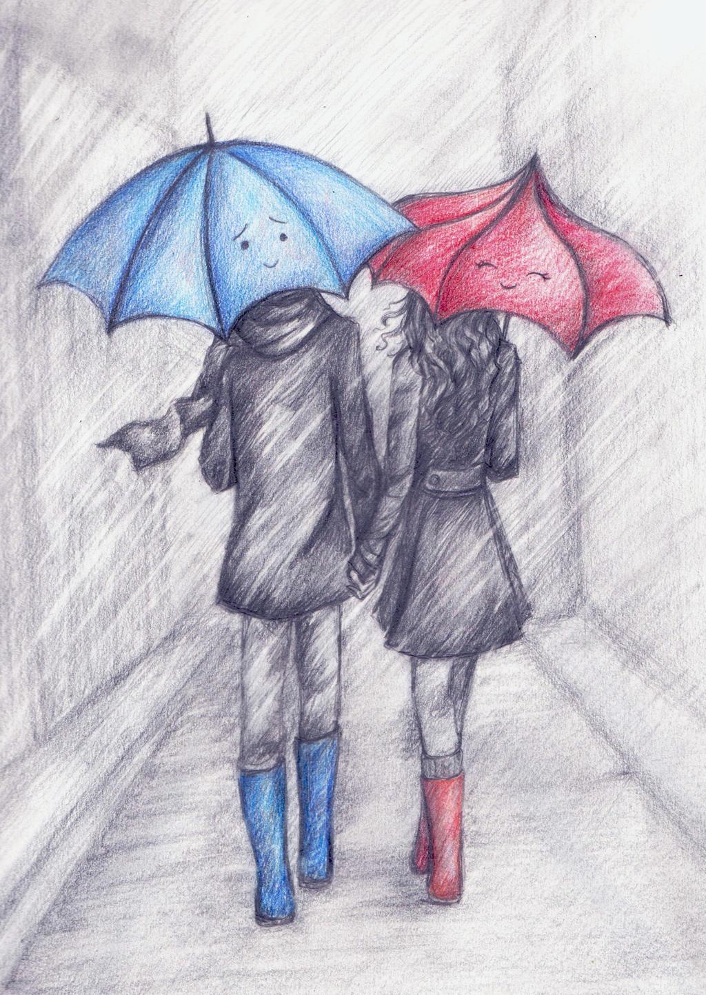 The Blue Umbrella By La Chapeliere Folle