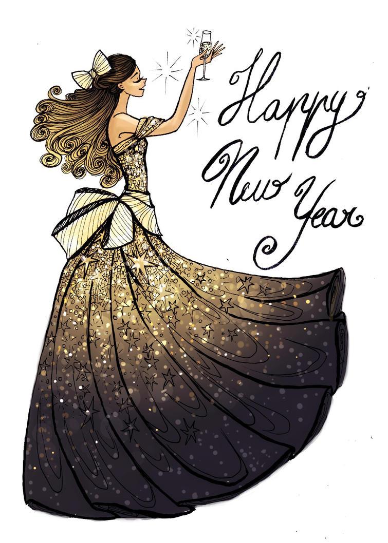 Happy New Year!! by La-Chapeliere-Folle