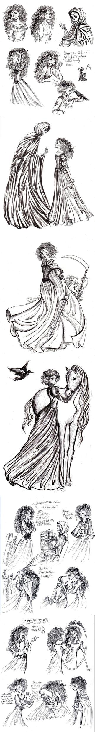 Susan Sto Helit doodles by La-Chapeliere-Folle