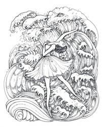 Dancing Waves by La-Chapeliere-Folle
