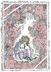 Pika x Flowers by La-Chapeliere-Folle