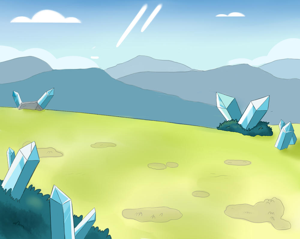Steven universe style background by midknight story on deviantart