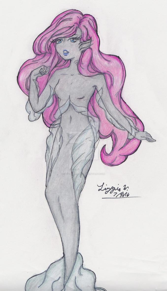 Shark Mermaid by luvallhimes