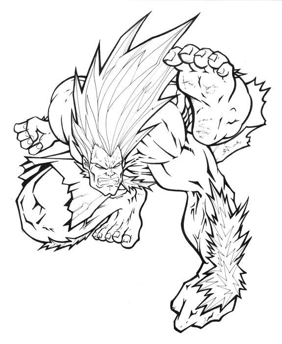 Street Fighter Mania: Blanka by Alexlapiz on DeviantArt
