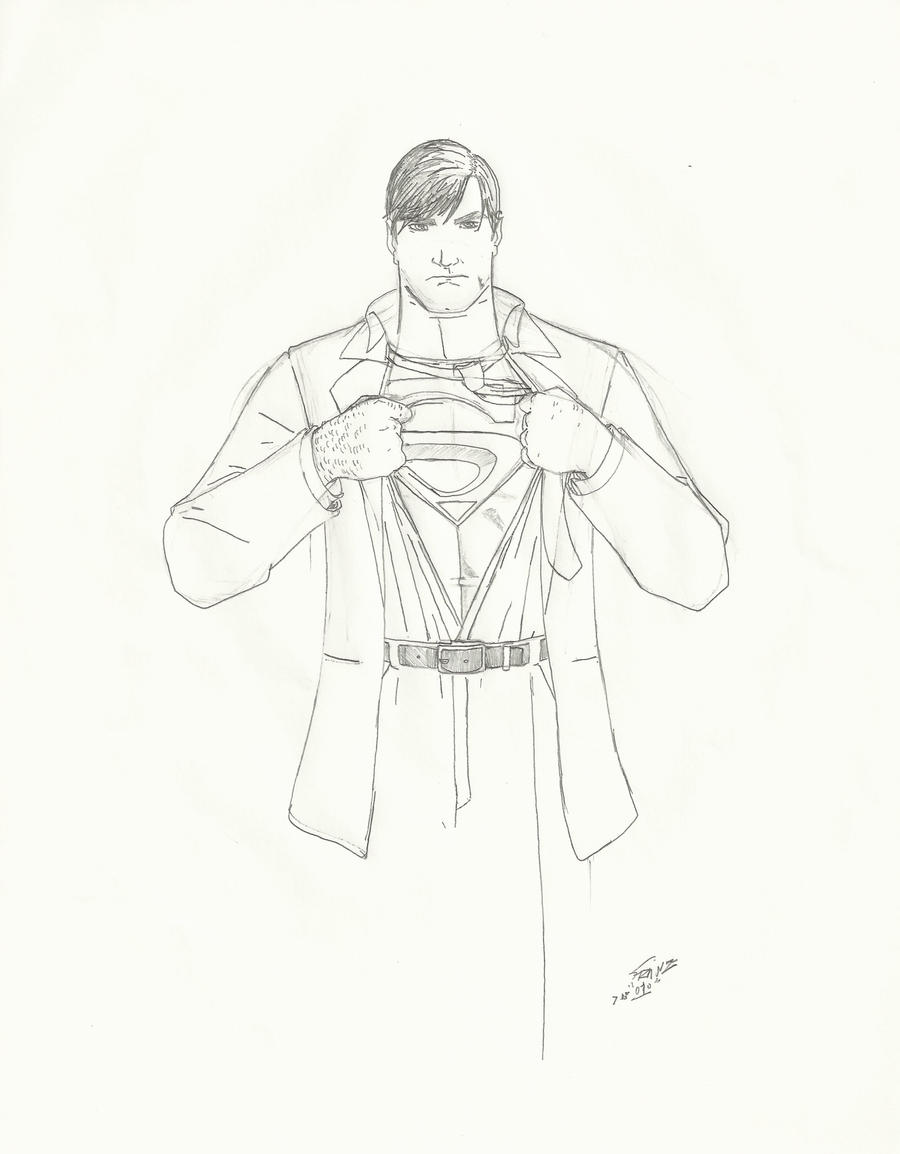 This is a picture of Enterprising Clark Kent Drawing