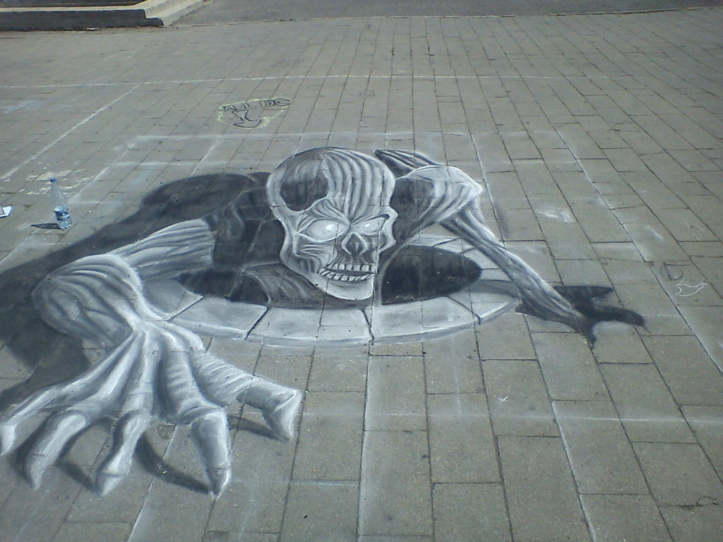 my first 3d draw in street by saules dievas on deviantart