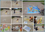 How i constructed the chalk art of mario 3D