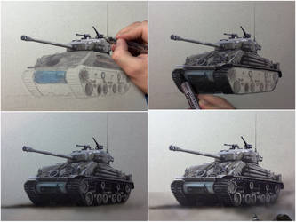 Tank Fury, realistic art - time lapse video by Saules-dievas