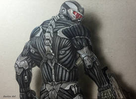 Crysis 3D realistic art on paper + timelapse video